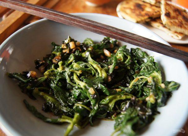 салат из трав рецепт