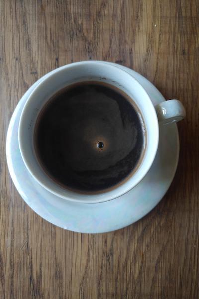 растительное молоко с кофе