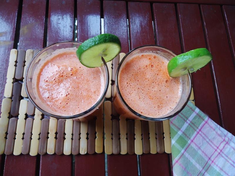 сок морковный с лимоном